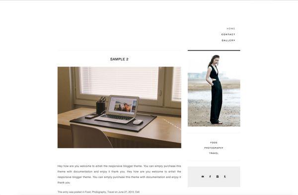 Artisti Beautiful Premade Responsive Wordpress Theme