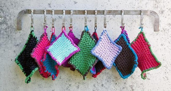 potholders on a wire