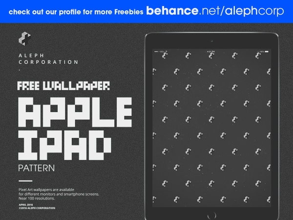 Free Apple iPad Wallpapers - Pixel Art by aleph corporation