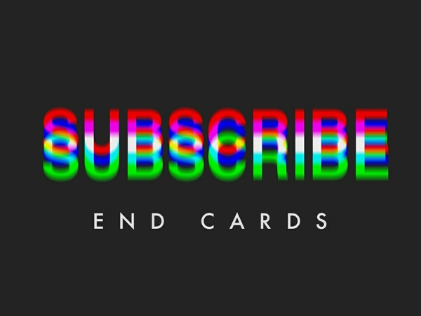 End Cards for Filmmakers / Creators