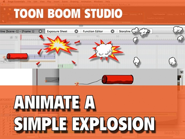 Animate a Simple 2D Explosion in Toon Boom Studio