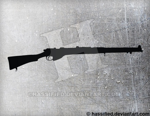 Lee Enfield - printable, vector, svg, art
