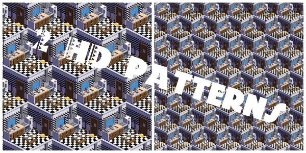 JPG Voxel Kitchen Pattern