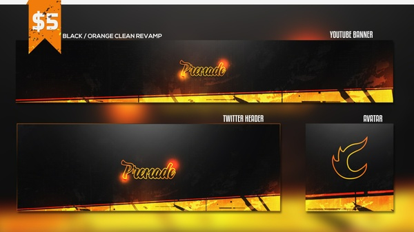 Black / Orange Clean Premade Revamp