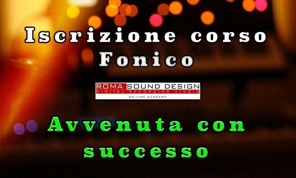 Iscrizione corso Fonico