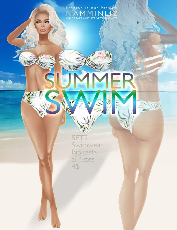 Summer swim SET2 imvu Bibirasta all sizes swimwear texture file sale