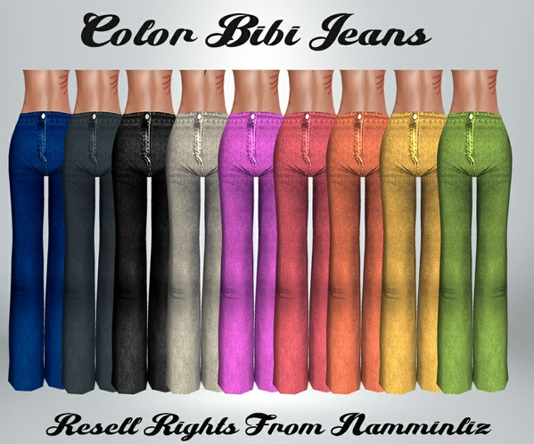 Color Bibi Jeans Baggy Catty Only!!!
