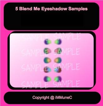 5 Blend Me Eyeshadows Instant Makeup