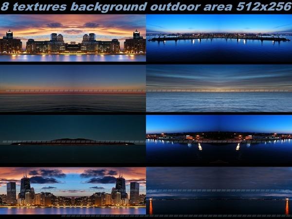 background outdoor area 8 textures 512x256