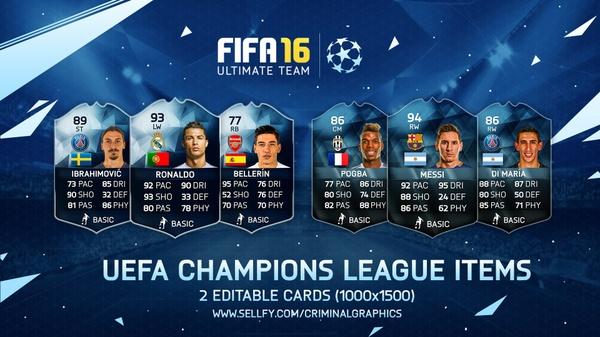 UEFA Champions League Custom Cards