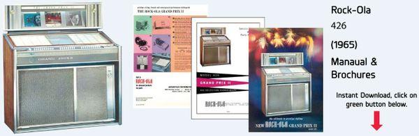 "Rock-Ola 426 ""Gramd Prix II"" (1965)  Manuals & Brochure"