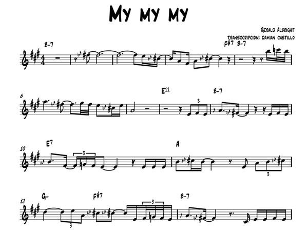 "Gerald Albright - ""My My My"" - Sax alto."