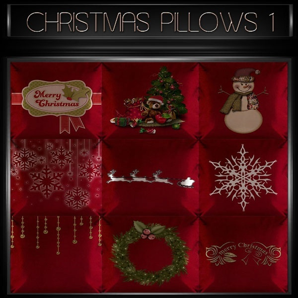 A~CHRISTMAS PILLOWS 1-30 TEXTURES