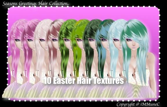 10 Easter Hair Textures (SG)