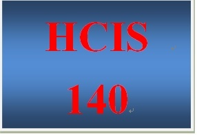 HCIS 140 Week 1 Information Systems Worksheet