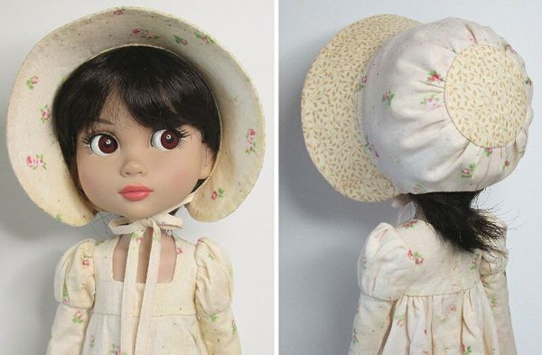 SSP-023: Regency dress and bonnet for Tonner Patience.