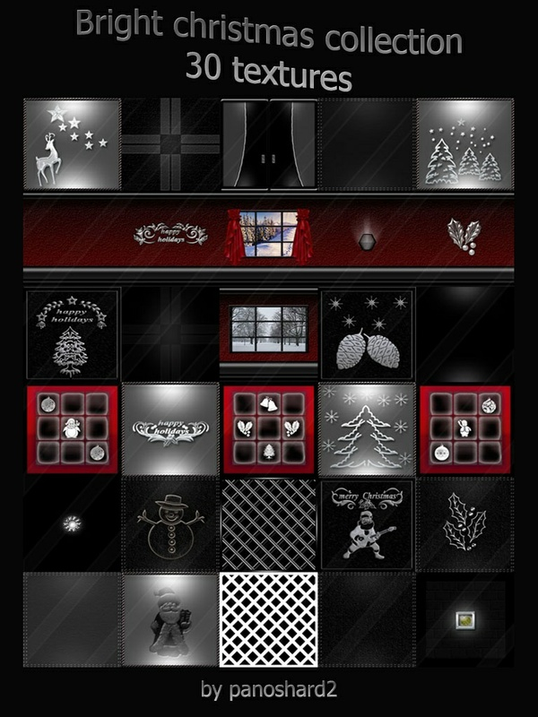 bright christmas collection 30 textures for imvu room