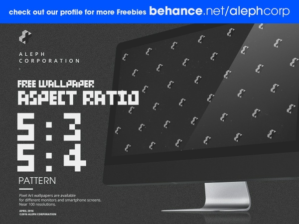 Free 5:3 & 5:4 Aspect Ratio Wallpapers - Pixel Art by aleph corporation