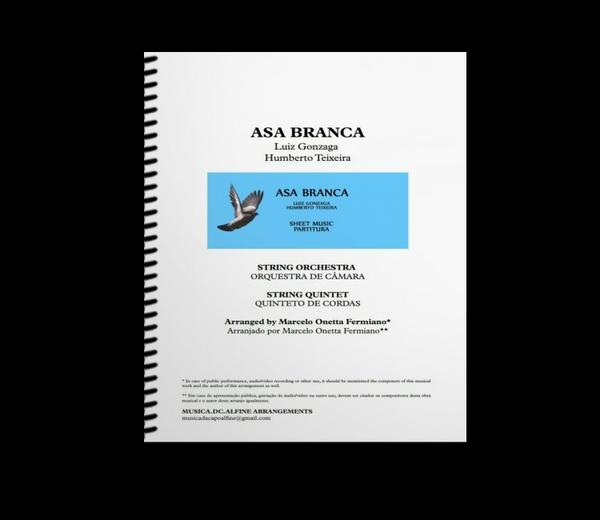 Asa Branca - L Gonzaga - Orquestra de Câmara - Partitura com Grade e Partes