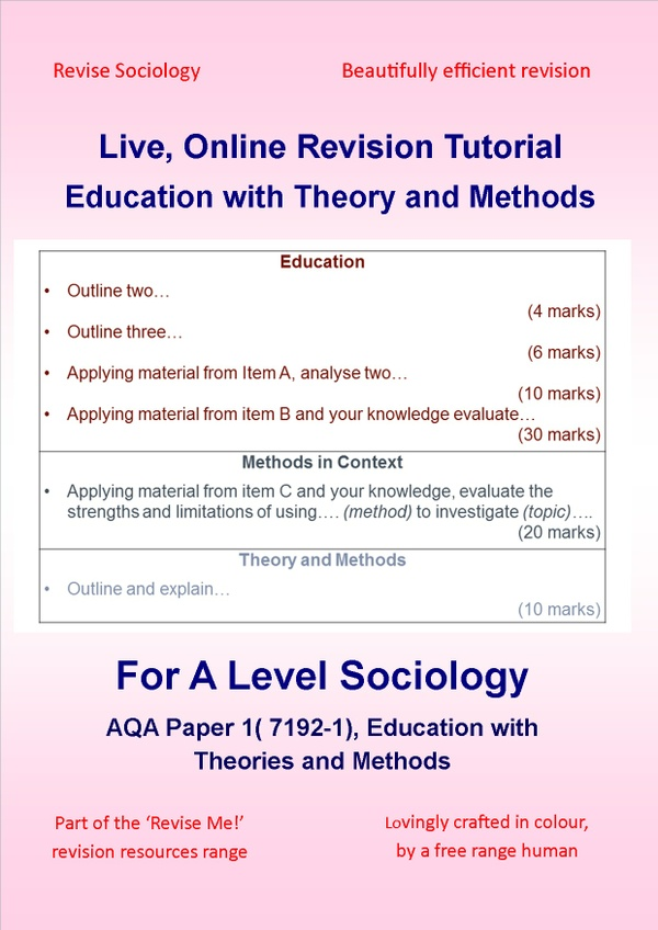 A Level Sociology Impact Revision Online - Education with Theory and Methods