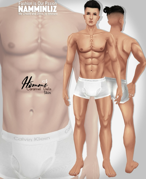 Homme Caramel Delis Skin tone PNG