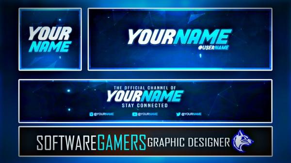 Ultimate Channel Revamp Template (Logo, YouTube Banner/Art, Twitter Banner/Header) V3