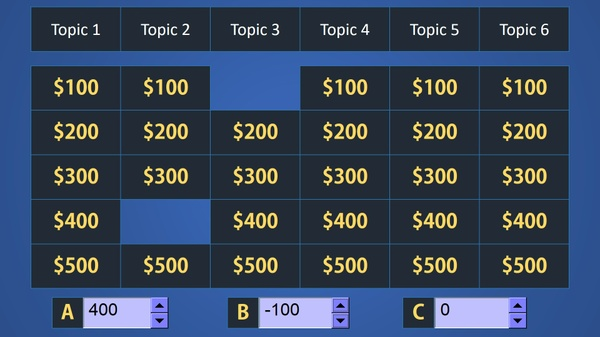 Easy Jeopardy PowerPoint Template (Premium)