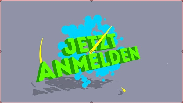"Video ""Jetzt anmelden"" Toon Style Call to Action german"