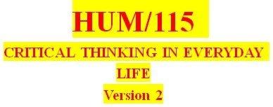 HUM 115 Week 5 Critical Thinking Reflection