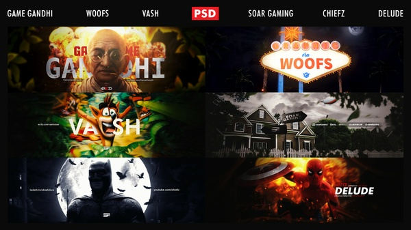 Header PSD Pack