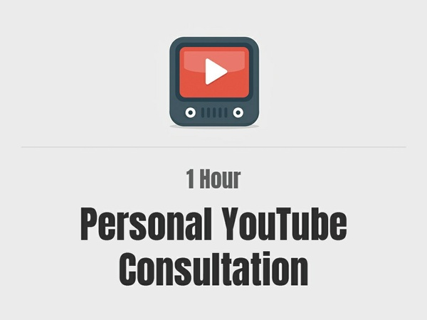1 Hour Personal YouTube Consultation