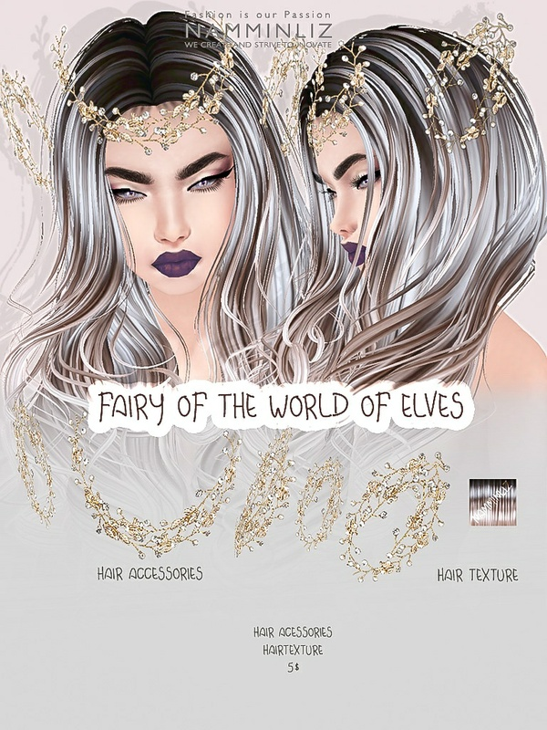 Fairy of the world of elves imvu accessories & Hair texture JPG