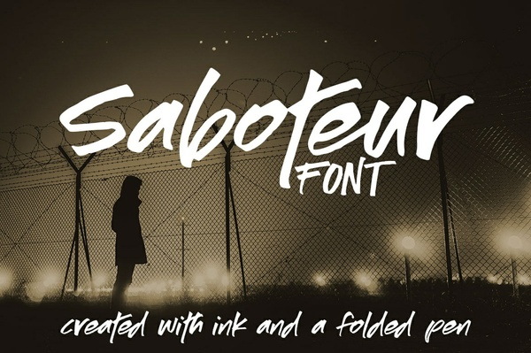 Saboteur: a moody, inky font!