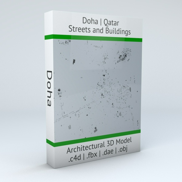 Doha Streets and Buildings Architectural 3D Model