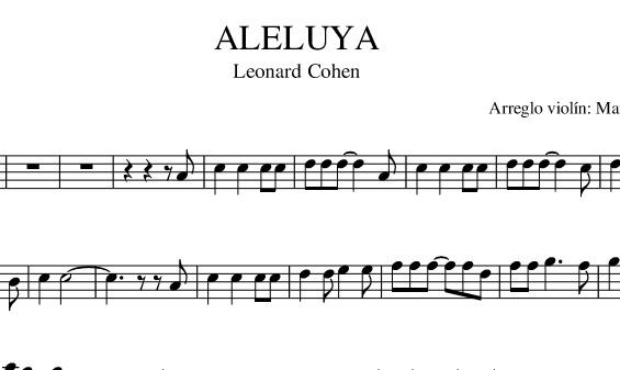 ALELUYA (Leonard Cohen) VIOLÍN