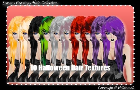 10 Halloween Hair Textures (SG)