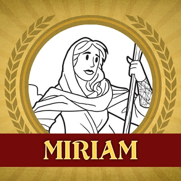 The Heroes of the Bible Coloring Pages: Miriam