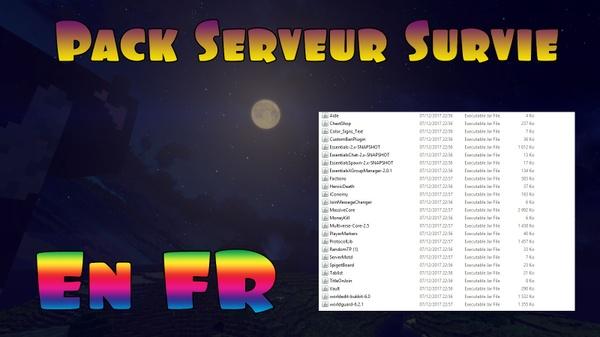 Pack : Serveur minecraft Survie