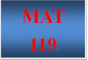 MAT 219 Week 1 participation Chapter 1