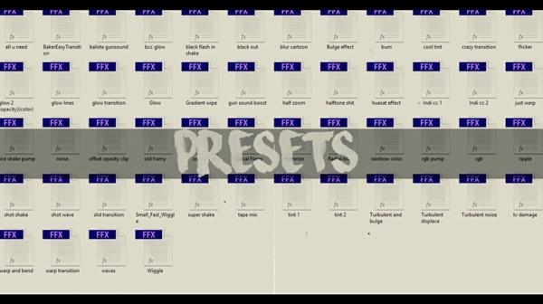 Editing Presets