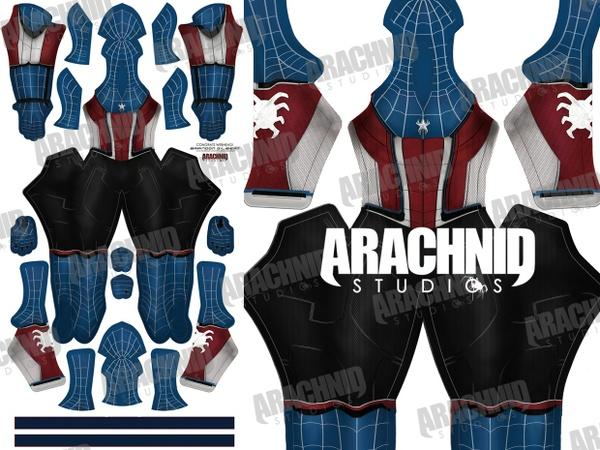 Civil War Captain Spider-Man Dye-sub Pattern