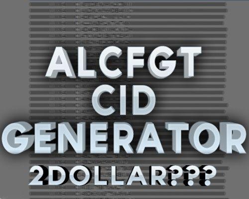 AlcFgt CID GENERATOR (2015)