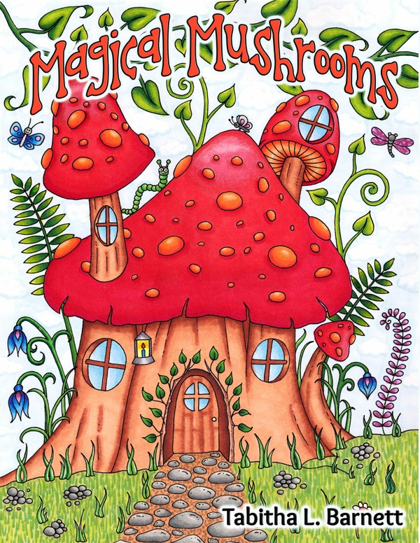 Magical Mushrooms Adult Coloring Book PDF