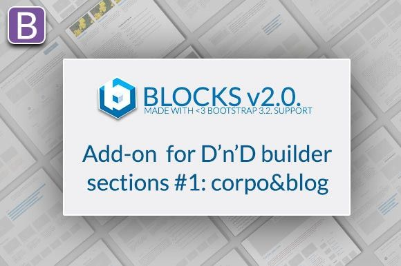 Bootstrap BLOCKS ADD-ONS #1