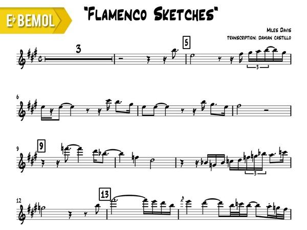 "Miles Davis - ""Flamenco Sketcches"" - Eb"