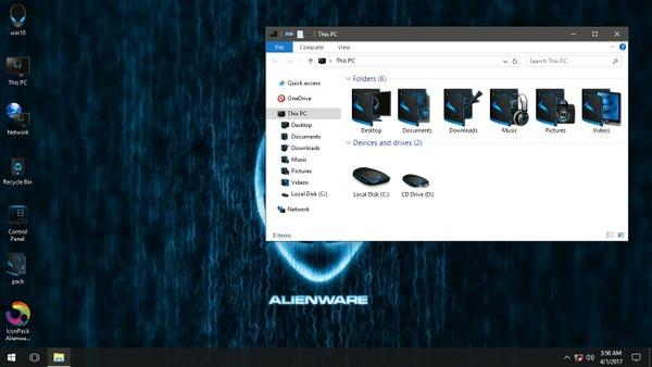 Alienware Advanced Blue IconPack