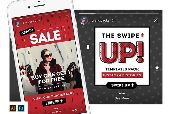 SWIPE UP Instagram Stories Pack
