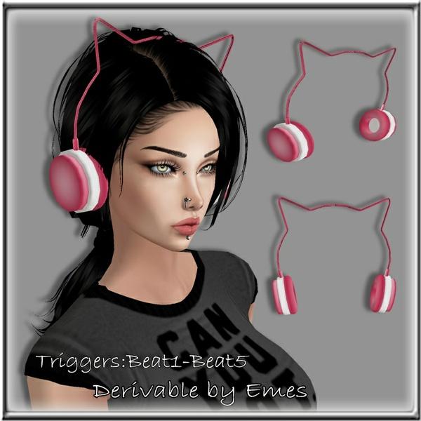 CAT HEADPHONES MESH ANIMATED FEMALE