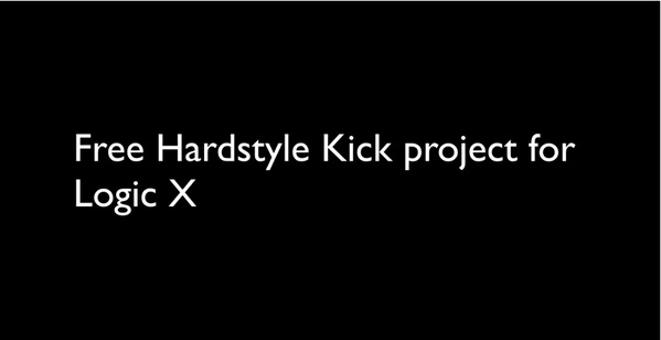 Free RAW Hardstyle Kick Project for Logic Pro X by Redpillz Audio