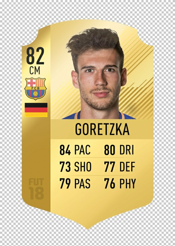 FIFA 18 Rare Gold Card Template